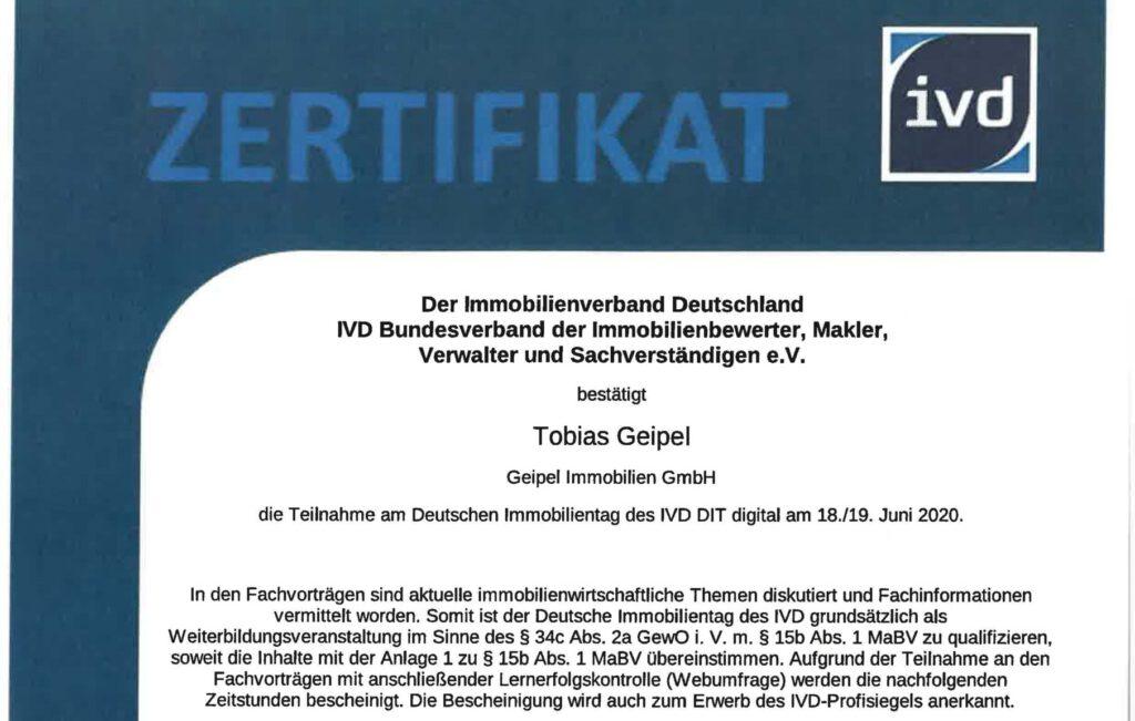 Deutscher Immobilientag IVD - Tobias Geipel