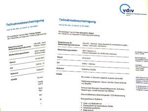 Teilnahmebescheinigung Verwalterverband Alexandra und Tobias Geipel