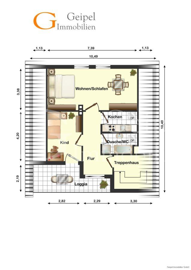 Haus zur Miete in Hasselroth - DG
