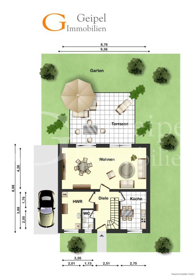 VERMIETET Einfamilienhaus mit Garten und Carport - Erdgeschoss