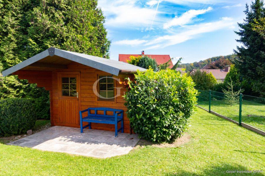 VERMIETET Einfamilienhaus mit Garten und Carport - Gartenhaus