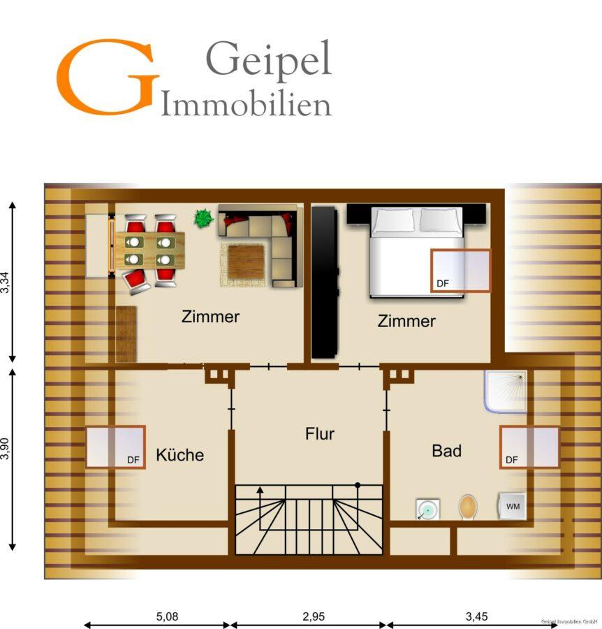 VERMIETET Perfekte Single Wohnung - Grundriss