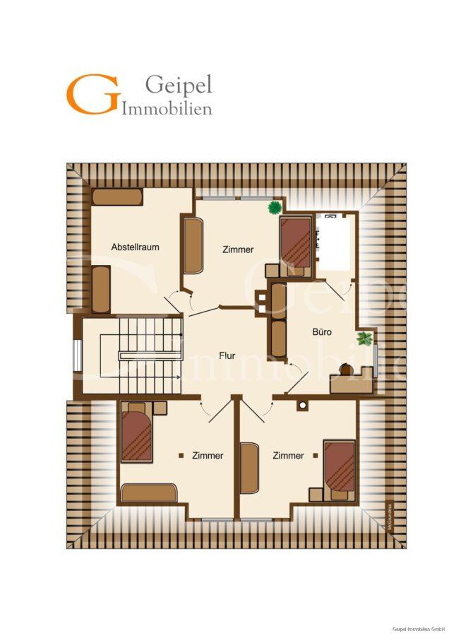 VERMIETET Wohnung mit Treppenlifter - Grundriss Dachgeschoss