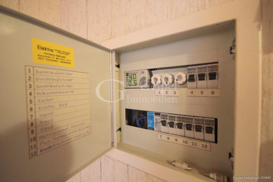 VERKAUFT Komplett möbliert - Stromverteilung in der Wohnung