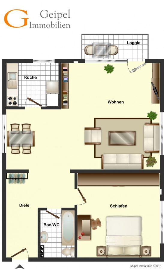 Neuer Fußboden - Aufzug - 1-2 Personen - 5734 - Grundriss