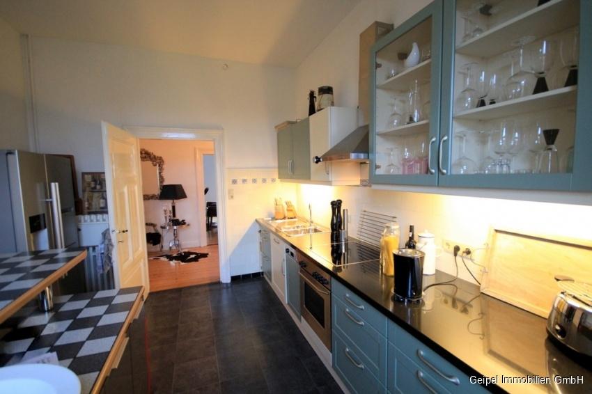 VERMIETET Stilvoll Wohnen - Küche mit Einbauküche OHNE den Kühlschrank