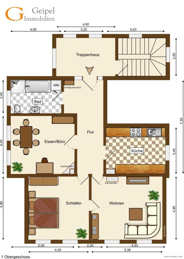 VERMIETET Stilvoll Wohnen - Grundriss