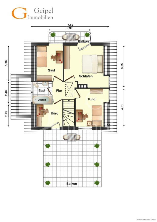 VERKAUFT Perfekt für 2 oder 3! - Dachgeschoss