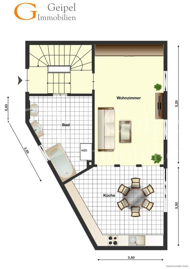 Ruckzuck in der Stadt - ohne Gartenarbeit - Erdgeschoss