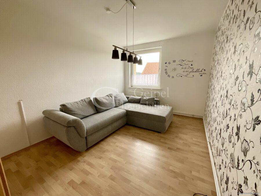 VERMIETET gepflegte Wohnung in Warzen - Wohnzimmer