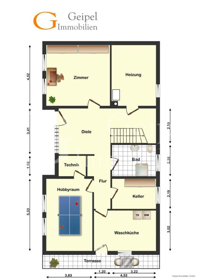VERMIETET Großes Wohnhaus mit Fernsicht - Kellergeschoss
