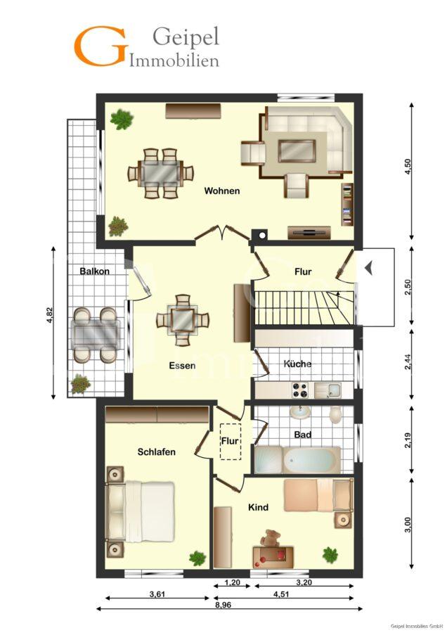 VERMIETET Großes Wohnhaus mit Fernsicht - Obergeschoss