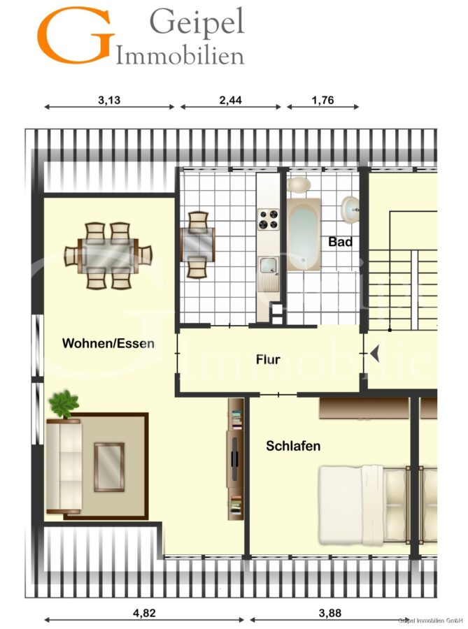 VERMIETET Dachgeschosswohnung in beliebter Lage - Grundriss
