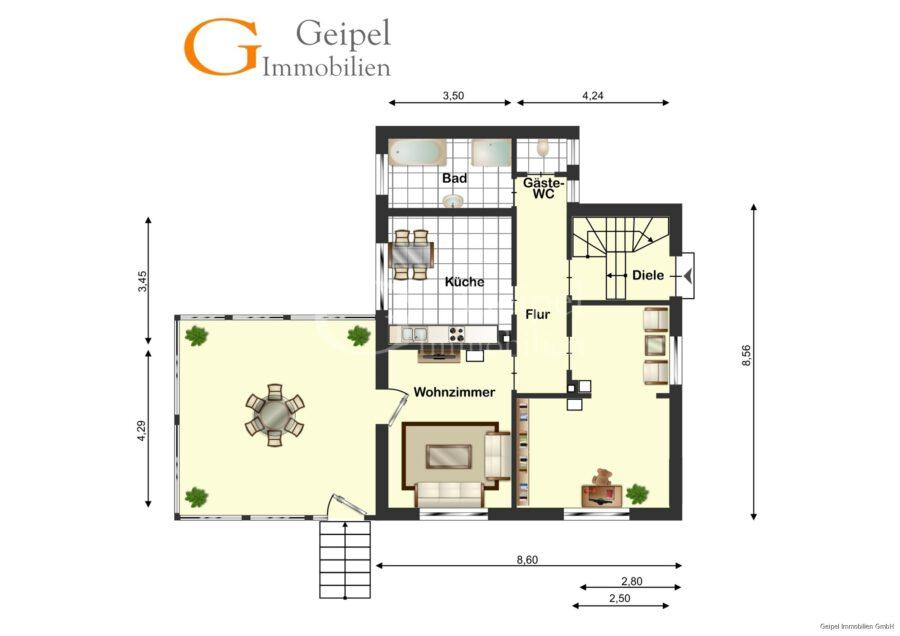 VERKAUFT 1-2 Familienhaus - neue Heizung - EG